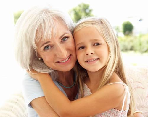 Grandmother and granddaughter | Dentist Calgary AB
