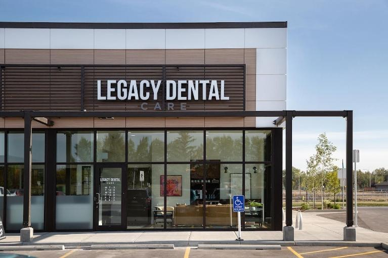 Exterior Front Door of Legacy Dental Care | Dentist Calgary AB