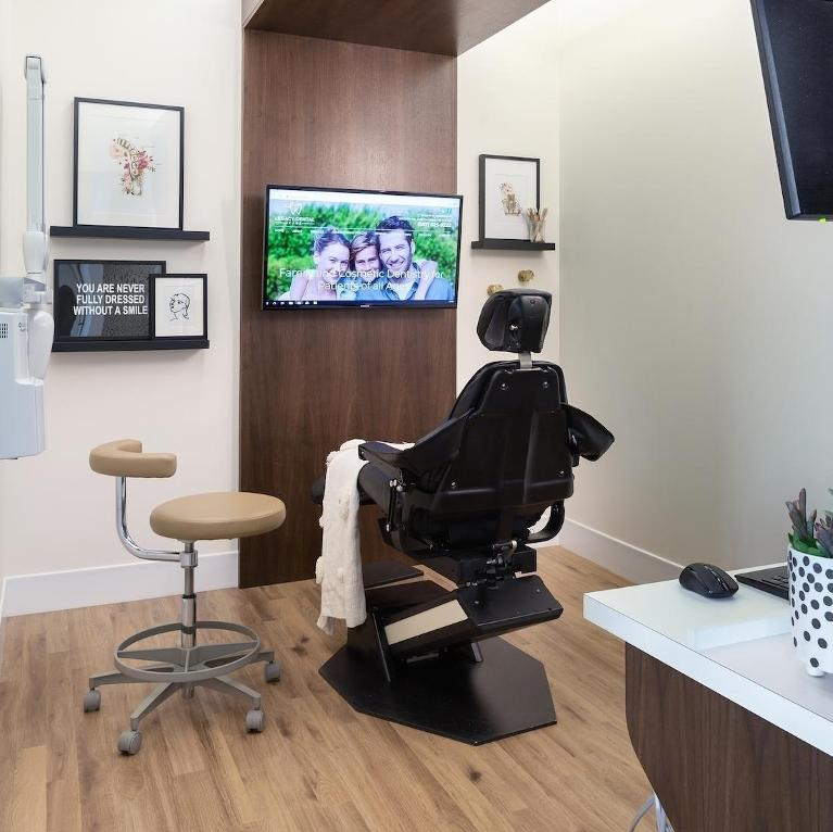 dental exam rooms with TV's Calgary ab